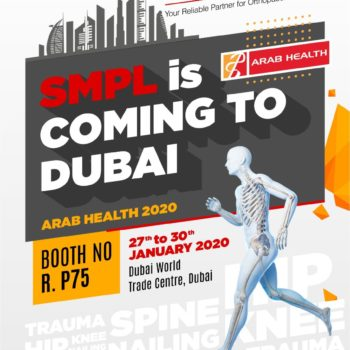 Visit us Arab Health 2020 to see our product Range of Orthopaedic Implants
