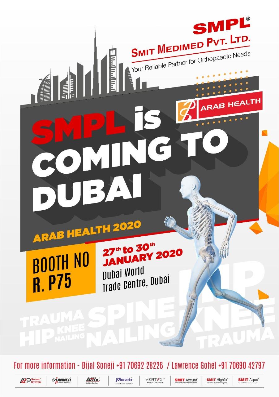 Visit us Arab Health 2020 to see our product Range of Orthopaedic Implants